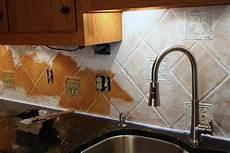 Painting Kitchen Tile Backsplash How To Paint A Tile Backsplash My Budget Solution