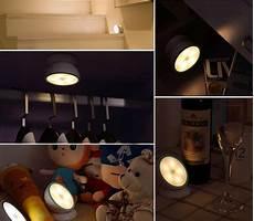 leegoal motion sensor light usb rechargeable stick on anywhere magnet design for 360 degree