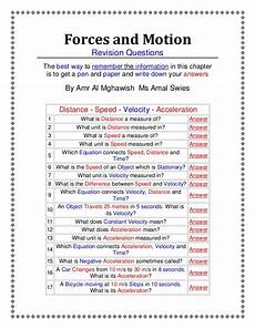 forces and motion an active worksheet prepared by amr