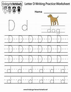 letter d worksheets 24203 kindergarten letter d writing practice worksheet printable d is for letter of the week