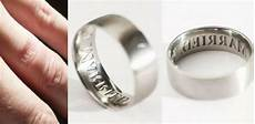 wedding ring with words custom ring that brands your wedding ring finger with the