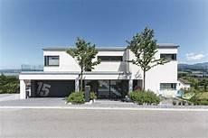 Villa Mit Tiefgarage - bauhaus stadtvilla mit garage moderne fertighaus villa