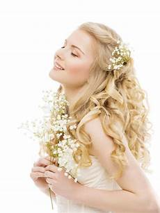 woman long blond hair beauty fashion model girl on white stock image image of beautiful