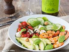 Salade Avocat Crevettes Tomate Concombre La Cuisine D