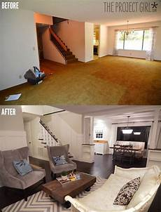 Diy Renovation Projects For Living Rooms Before V After
