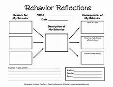 reflection sheet tween teaching behavior reflections sheet