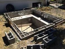 construire un spa construction d une piscine en b 233 ton 233 quip 233 e spa scellement des buses de c 244 t 233 est
