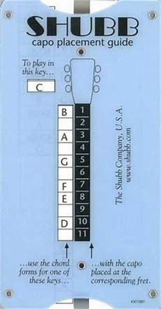 Dulcimer Capo Chart Transposing And Capo Placement Guide By Shubb 9 45 This