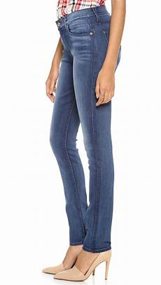 lyst 7 for all mankind high rise roxanne in blue