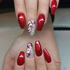 29 red acrylic nail art designs ideas design trends