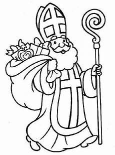 Ausmalbild Bischof Nikolaus Nicholas Coloring Pages Ausmalbilder Nikolaus
