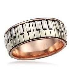 music wedding rings