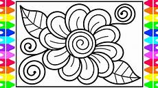 how to draw a flower step by step for kids flower drawing flower coloring pages for kids
