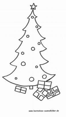 malvorlagen ausmalbilder weihnachtsbaum mit geschenken