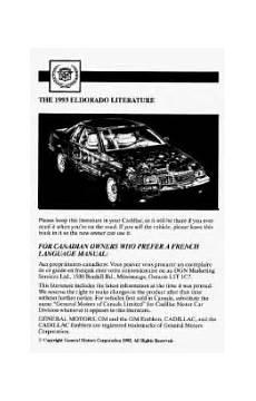 automotive repair manual 1992 cadillac seville regenerative braking how to release emergency brake on 1993 eldorado cadillac 1993 cadillac eldorado support