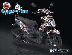 Variasi Warna Motor Beat by Stiker Motor Honda Beat Fi Warna Hitam Decal Honda Beat