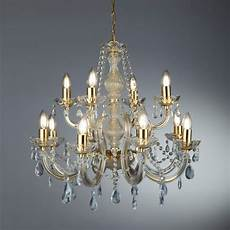 marie therese 12 light chandelier polished brass clear