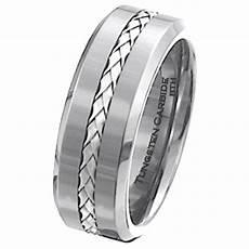 men s 925 silver inlay tungsten carbide scratch resistant