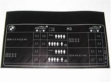 bmw e46 m3 reifendruck kartentisch etikett 2229438