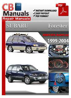 manual repair autos 1999 subaru forester engine control service and maintenance manuals
