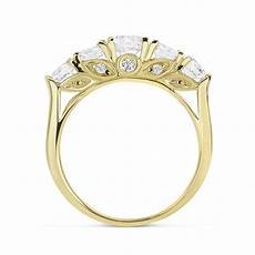 5mm 14k yellow gold wedding ring cz five stone anniversary ring ebay