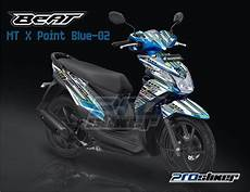 Modifikasi Stiker Motor Beat by Stiker Striping Honda Beat Fi Warna Biru Prostiker