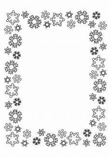 Ausmalbilder Weihnachten Rahmen Ausmalbilder Bilderrahmen Schneeflocken Bilderrahmen