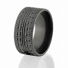 custom black zirconium tire tread rings rugged men s rings ebay
