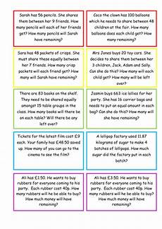 ks2 maths division with remainders word problems