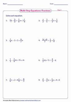 fraction algebra equations worksheets 3926 multi step equation worksheets
