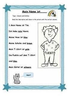 german lessons worksheets 19675 mein name ist arbeitsblatt 1 page 001 lernen namen lernen