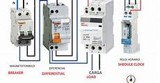 electrical diagrams time clock with cotroller contactor maniobra reloj horario con cotactor