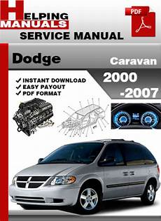 car manuals free online 2002 dodge caravan electronic toll collection dodge caravan 2000 2007 service repair manual download tradebit