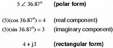 polar form and rectangular form notation for complex numbers complex numbers electronics