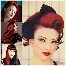 retro hairstyle for long hair long retro hairstyles on red hair 2019 haircuts hairstyles and hair colors