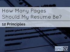 curriculum vitae how many pages should a curriculum vitae be