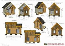 insulated dog house plan home garden plans dh300 insulated dog house plans
