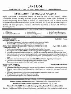 it help desk resume exle technical analyst it support
