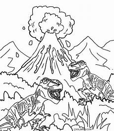 Malvorlage Vulkan Dino Printable Volcano Coloring Pages For
