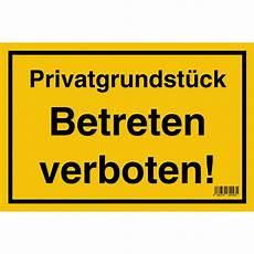 schild quot privatgrundst 252 ck betreten verboten quot 20 cm x 30 cm