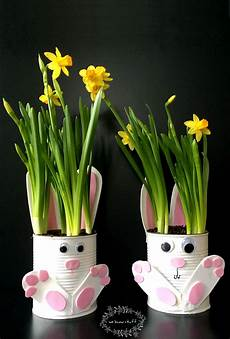 How To Make Adorable Tin Can Bunny Planters For