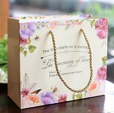 10pcs Wedding Gift Bag Paper Handle Bags For