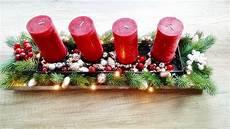basteln adventsgesteck selber machen adventskranz