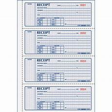 rediform 3 part carbonless money receipt book 100 sheet s book bound 3 part carbonless