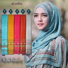 Jilbab Segi Empat Elzatta Terbaru Voal Motif