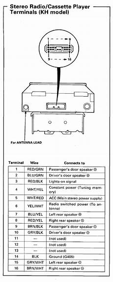94 accord radio wiring diagram cant find the right one honda tech