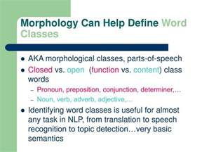 Morphology Meaning