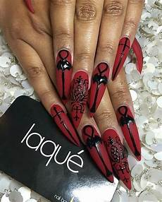 corseteddeath laquenailbar gothic nails
