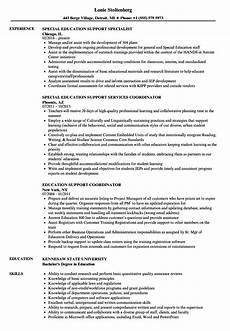education support resume sles velvet jobs