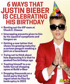 6 Ways That Justin Bieber Is Celebrating His Birthday